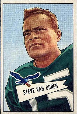 Steve Van Buren - Van Buren depicted in 1952