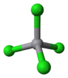 3D model of the vanadium tetrachloride molecule