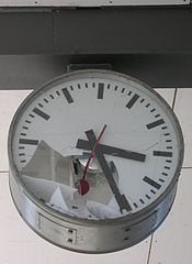 A broken station clock, by Audrius Meskauskas licensed under CC BY-SA 3.0