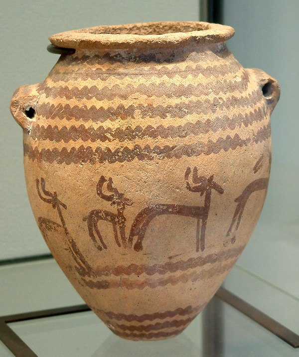 Vase with gazelles-E 28023- Egypte louvre 316