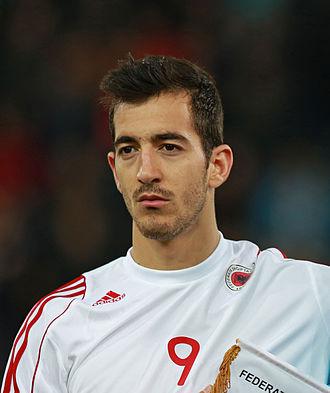 Vasil Shkurti - Shkurti with the Albania under-21s in 2014