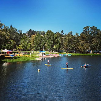 Los Gatos, California - Summer boating in Vasona Lake