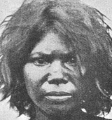 Veddah Australoid woman from Sri Lanka.