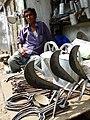 Vendor with Hoe Blades - Srimangal - Sylhet Division - Bangladesh (12924553714).jpg