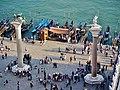 Venezia Blick vom Campanile der Basilica di San Marco auf die Piazetta San Marco 3.jpg