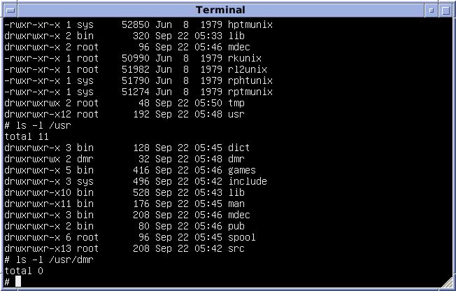 Version 7 Unix SIMH PDP11 Emulation DMR