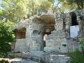 Vestiges d'une abbaye du Ve siècle sur la colline de l'Aiguille et celle de St-Roman,..JPG