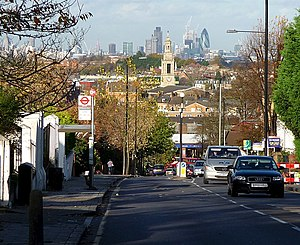 Knight's Hill (West Norwood) - Image: View down Knight's Hill (1) geograph.org.uk 1658415