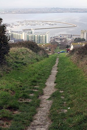 Merchant's Railway - The remaining Freeman's Incline section of the railway, leading from the Verne down to Castletown