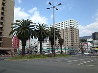 View in front of East Entrance of Sasebo Station 20141230-3.JPG
