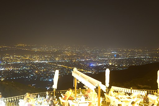 View of Capital Islamabad from Monal on Margalla hills
