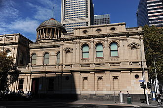 Supreme Court of Victoria - View of Lonsdale Street facade