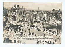 Uitzicht op O'Connell Bridge, 1916