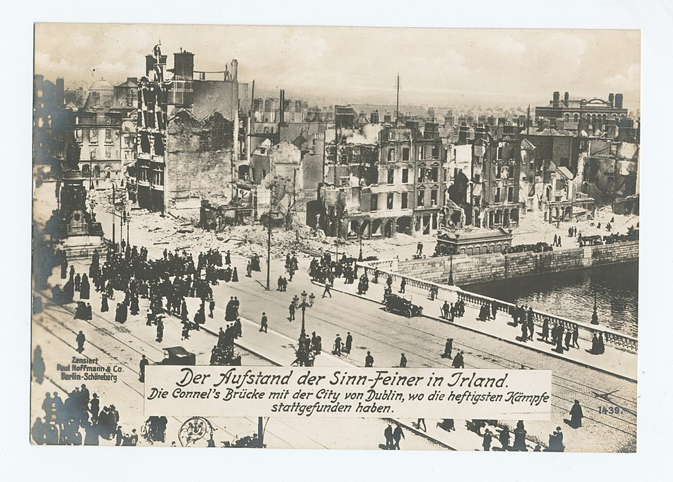 View of O'Connell Bridge, Dublin, 1916