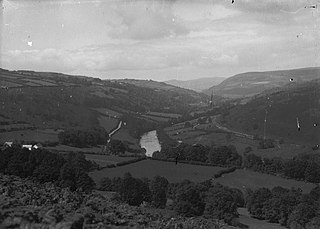 View of Wye river from Twmpath, Erwood