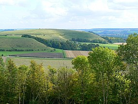 View south-east from Battlesbury Hill, near Warminster - geograph.org.uk - 962175.jpg