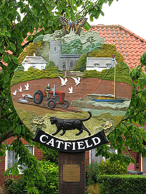 Catfield - Image: Village Sign Catfield