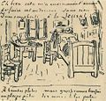 Vincent van Gogh - Vincent's Bedroom - Lettersketch 17 October 1888.jpg