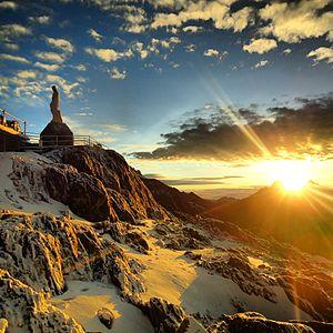 Sierra Nevada National Park (Venezuela) - Image: Virgen de las Nieves est. Pico espejo