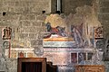 Viterbo, santa maria nuova, interno, resti di affreschi del 1320, 01.jpg