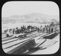 Vladivostok - laborers at dockside railroad tracks; city and harbor in background LCCN2004708006.tif