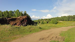 Tunkinsky District - Volcanoes near the settlement of Arshan in Tunkinsky District