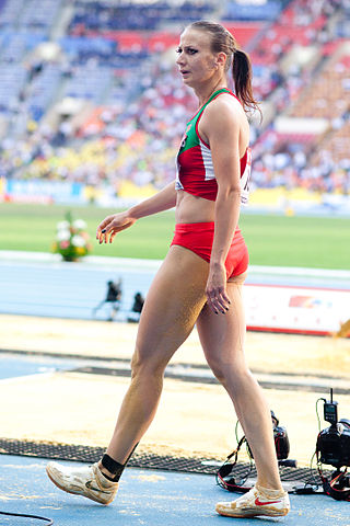 Volha Sudarava (2013 World Championships in Athletics) 02.jpg