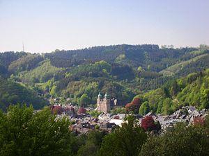 Malmedy - Image: Vue de Malmedy en mai 2012
