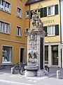 Würzburg - Fischerbrunnen, Front (Karmeliterstraße).JPG