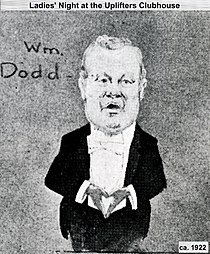 W.J. Dodd performing a song in 1922 at Uplifters Club.jpg