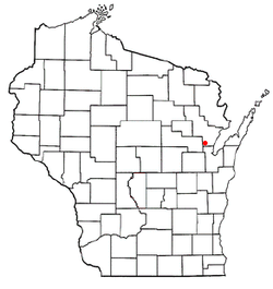 Location of Chase, Wisconsin
