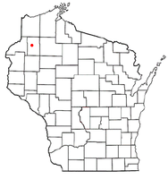 Location of Trego, Wisconsin