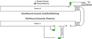 Worcester Park railway station - Station Oyster/Ticketing Layout