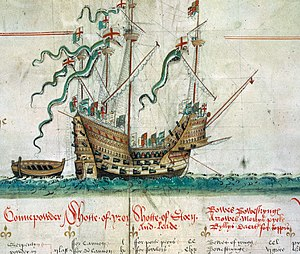 Cannabis in the United Kingdom - The Mary Rose needed tons of hemp