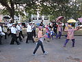 WWOZ 30th Birthday Parade Esplanade Avenue Treme Brass Dance.JPG