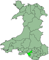 Port Talbot within Wales