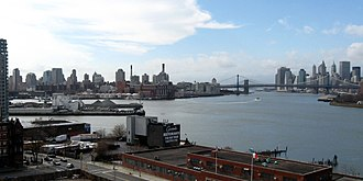 Wallabout Bay - Looking across the bay from Williamsburg Bridge