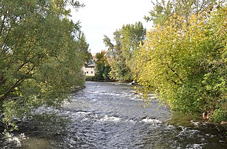 Wallowa River - Wallowa River at Wallowa, Oregon