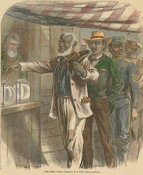 Waud - 1867 - The First Vote