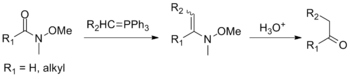 Reaction of Weinreb–Nahm amides with Wittig reagents