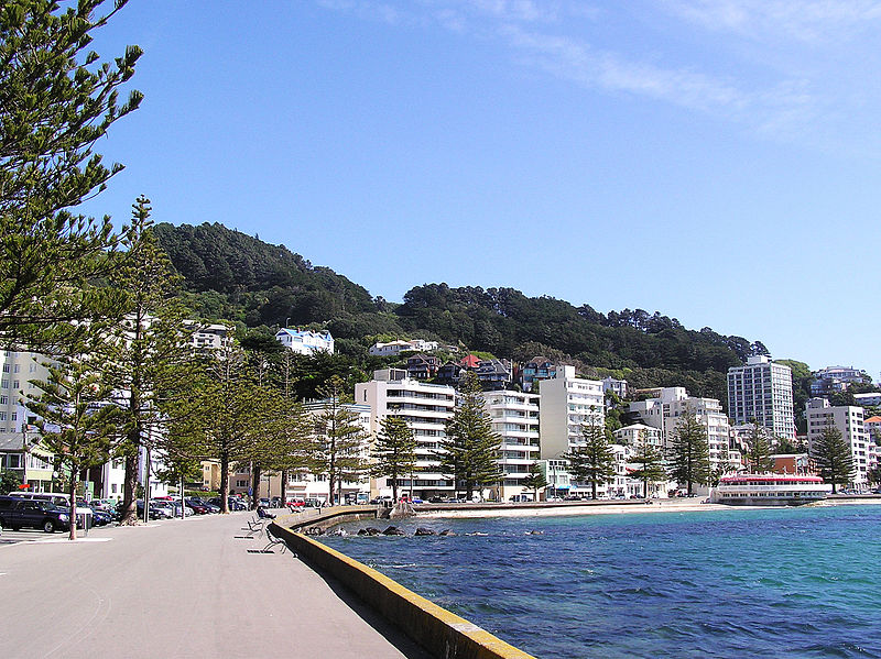 Wellington Waterfront at Oriental Bay