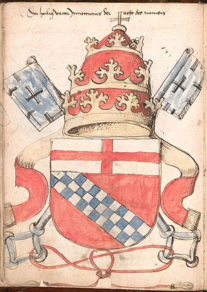 Papal coats of arms - Image: Wernigeroder Wappenbuch 022