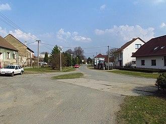 Čechočovice - Image: West part of Čechočovice, Třebíč District