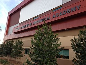 West Career and Technical Academy - Façade in January 2014