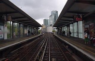 Westferry DLR station Docklands Light Railway station