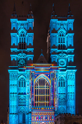 Lumiere festival - Image: Westminster Abbey Lumiere London 2016