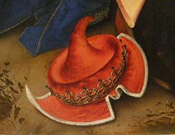 Weyden, Rogier van der - Adoration of the Magi - Detail hat.jpg