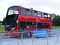 White Water rafting centre, Waltham Abbey Sullivans Buses FJ57 CYZ awaits passengers,2012 Olympic games (7691948738).jpg
