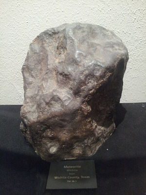 Texas Memorial Museum - Wichita County Meteorite: 2 feet long by 1 foot wide by 4-8 inches thick