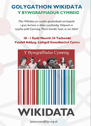 Wikidata event flyer Welsh.jpg